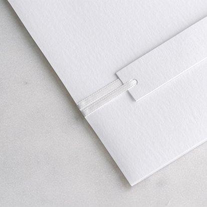Lazo satén blanco 90 cm