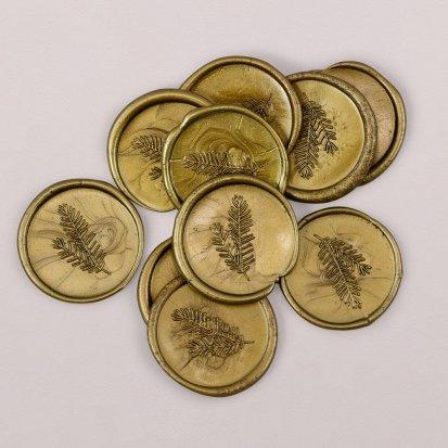 Sellos de cera Dorado 3 cm