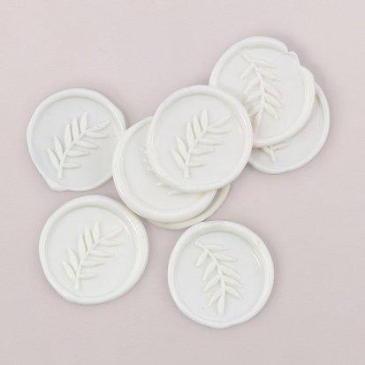 Sellos de cera Blanco 3 cm