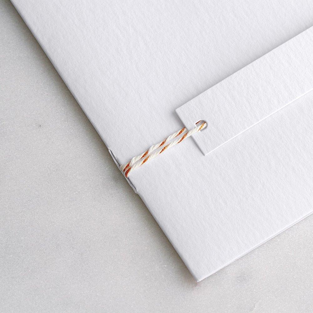 Baker Twine cobre y blanco 90cm